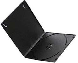 9mm/10mm Small Half DVD Case Single Black