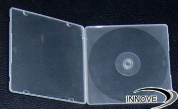 double half dvd cases clear poly boxes pp cd case. Black Bedroom Furniture Sets. Home Design Ideas