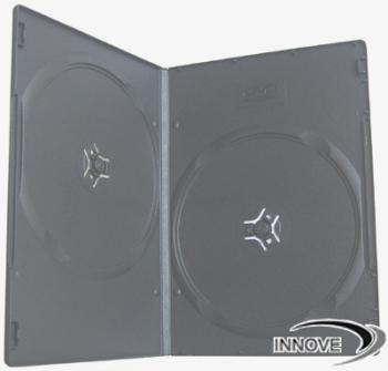 7mm Super Slim Double DVD case - Black