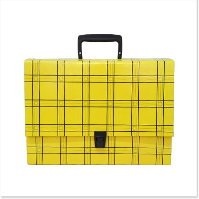 Briefcase-shaped Box with Plastic Handle