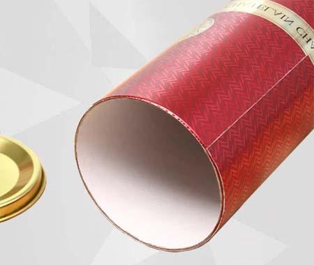 Single bottle Wine Box with Metal Cap