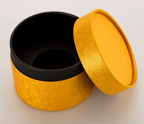 Gold Round Gift Box with Lid