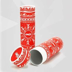Round Christmas Boxes with Lids