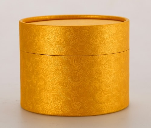 Gold Round Cardboard Gift Boxes