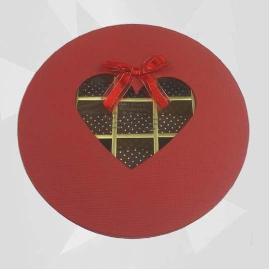 Window Chocolate Box with Ribbon Bow Tie