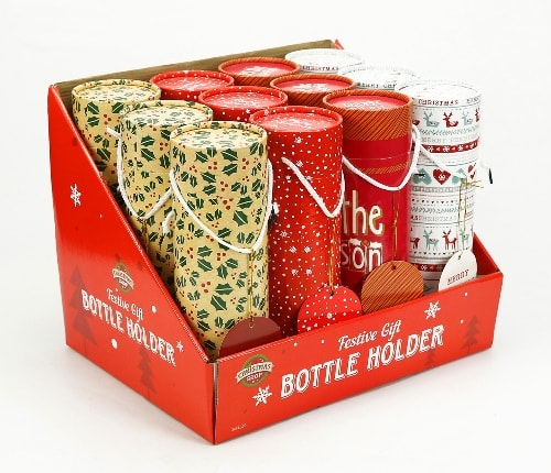 Small xmas gift boxes pack of 12 round box with tags handles in bulk xmas gift boxes pack of 12 negle Choice Image